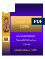 Determinacion de Costos Carlos Bellido