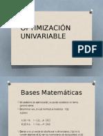 Optimización Univariable (m)