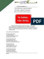 Ficha 14 - Verbos Subjuntivo e Imperativo041120131013