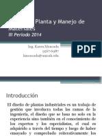 Diseno De Planta Introduccion y Analisis
