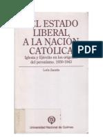 Loris Zanatta Del Estado Liberal a La Nación Católica