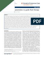 parámetros hemodinámicos para guiar fluido terapia