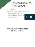 Variables Comerciales Estratégicas