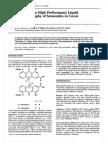 Determinarea Senozidelor Prin HPLC in 5 Genotipuri