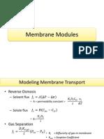 Membrane Modudule and Process Design