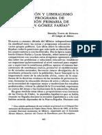 Ilustración y Liberalismo en el programa escolar de Gómez Faríaz