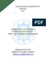 Lenguajes y Automatas 2 u1