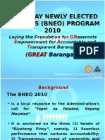 1 Bneo Program 2010 Overview