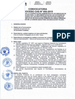 CONVOCATORIA CAS DOCENTE FORTALEZA