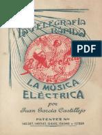 Castillejo Juan Garcia La Telegrafia Rapida El Triteclado y La Musica Electrica