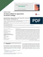 3D Braid Scaffolds for Regeneration of Articular Cartilage