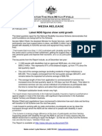 Media Release from Minister Fifield - Latest NDIS Figures Show Solid Growth