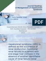 JR - Hepatorenal Syndrome