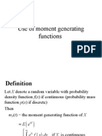 moment generation function