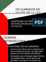 Derechos Humanos en La Aplicacion de La Ley