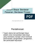(3) SistemBiaya Berdasar Pesanan;Proses