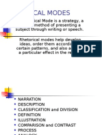 Presentation Rhetorical Modes