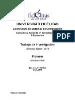Consultoria Aplicada ISO 27001