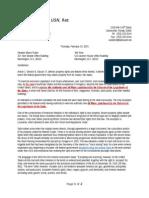 2-19-15 Ltr to Rubio and Yoho Regarding Split Estates