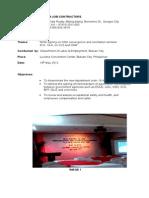 Training Report Convergence