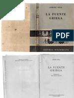 Simone Weil, La Fuente Griega