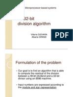 [slides] Microprocessor-Based Systems - 48/32-bit division algorithm