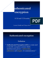 [slides] Authenticated Encryption GCM - CCM