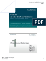 Climate and the Built Environment (Part I)