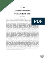 l'Art Transmutatoire Du Pape Jean Xxii