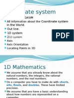 1 Cartesian Coordinate Systems