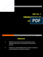 NIC 1 Presentaci+¦n de Estados Financieros