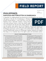 Refugee International Field Report_Philippines Displaced and Forgotten in Zamboanga