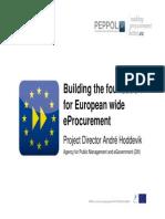 Building the Foundation for European Wide Eprocurement - Andr82 Hoddevik