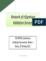 Network of ESignature Validation Services - Alain Esterle