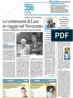 Le confessioni di Luzi in viaggio nel Novecento - Il Resto del Carlino del 19 febbraio 2015