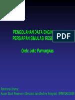 Persiapan Data Simulasi Reservoir