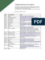 Fonts for TitlePack01