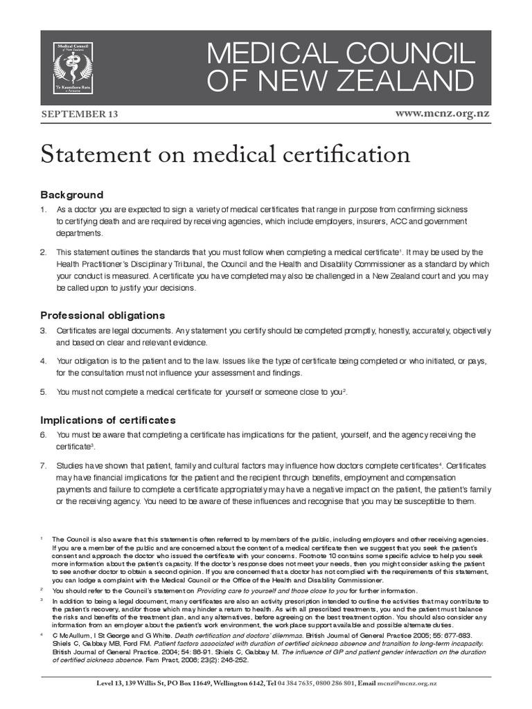 Medical Certification Mental Disorder Mental Health