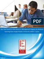 Complete a BA Hons Degree in Management by Distance Learning in 3 Years