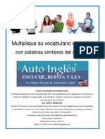 3 Auto Ingles Mas Vocabulario Palabras Similares Del Espanol