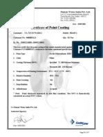 Paint Certificate 80A45-1