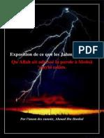 Exposition de Ce Que Les Jahmya Ont Nié. Qu'Allah Ait Adressé La Parole a Moûsâ 'Alayhi Salâm - Par Ahmad Ibn Hanbal