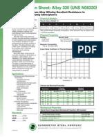 Alloy 330 Spec Sheet