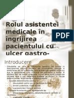 Rolul asistentei medicale in ingrijirea pacientului cu ulcer gastric