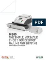 Hasler Postage Meter Mailing Machine Systems