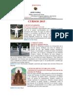 CENTRE WUDANG cursos 2015