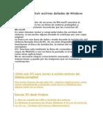 Reparar y Sustituir Archivos Dañados de Windows Con SFC