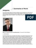 Paul Chehade - Summaries of World Religions.