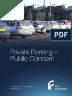 RAC Foundation parking report