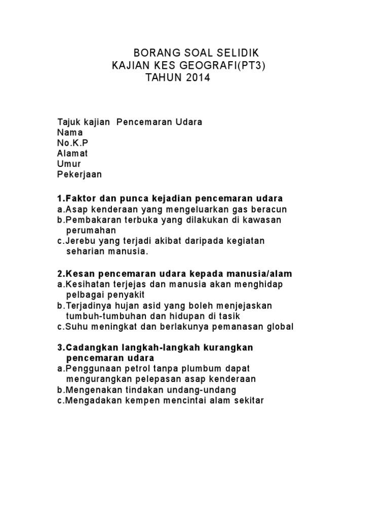 Borang Soal Selidik Geo Pt3